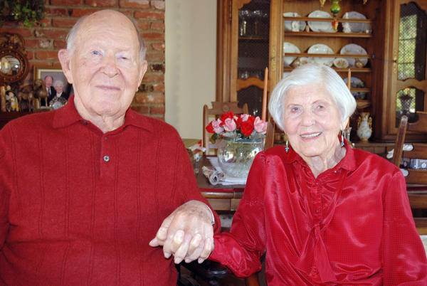 High school sweethearts Les and Marjorie Jonkey of Burbank turned 95 in November and their family celebrated with a party at the Castaway Restaurant on Nov. 17. They will celebrate their 72nd wedding anniversary in January.