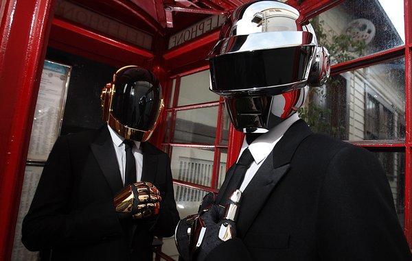 A photo of Daft Punk.