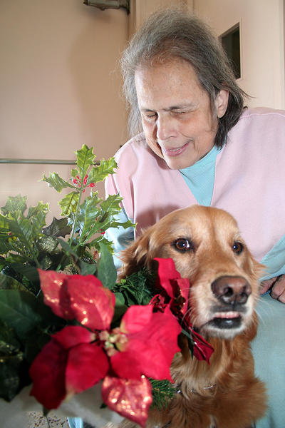 Mona Craig and her guide dog for the blind, CeCe, a female Golden Retriever, have been coming to the Oakmont League?s Luncheon for the Blind for five years.