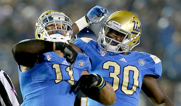 UCLA linebacker Anthony Barr, left, was named first-team All-American by the Associated Press. Barr recorded 42 tackles with 10 sacks in his senior season for the Bruins.