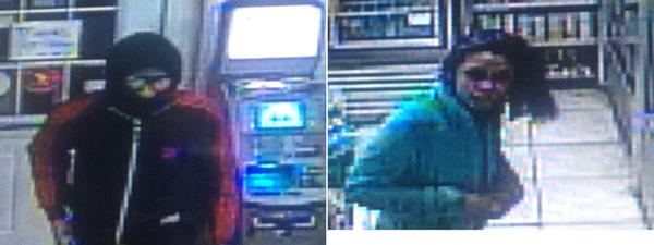 Police are looking for this man and this woman in connection with a robbery at the S&K Grocery in Bridgeport.