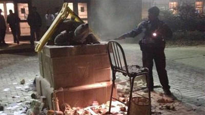Fire breaks out on Testudo mascot statue at UMD
