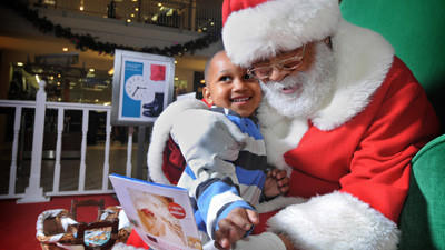 Generations flock to visit Mondawmin's 'color blind' Santa Luke