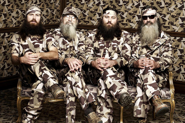 "Jase, Si, Willie and Phil Robertson of the A&E series ""Duck Dynasty."""