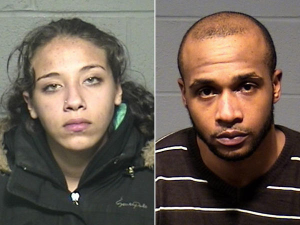 Madelyne Martinez-Mercado, 23, of New Britain, left, and Talib Shaheer, 32, of Waterbury, right, face charges in connection with the September murder of Christopher T.J. Jefferson.