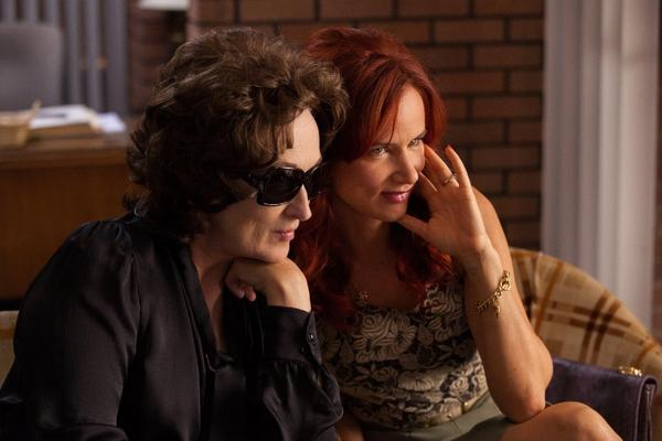 "Meryl Streep, left, and Juliette Lewis in a scene from ""August: Osage County."""