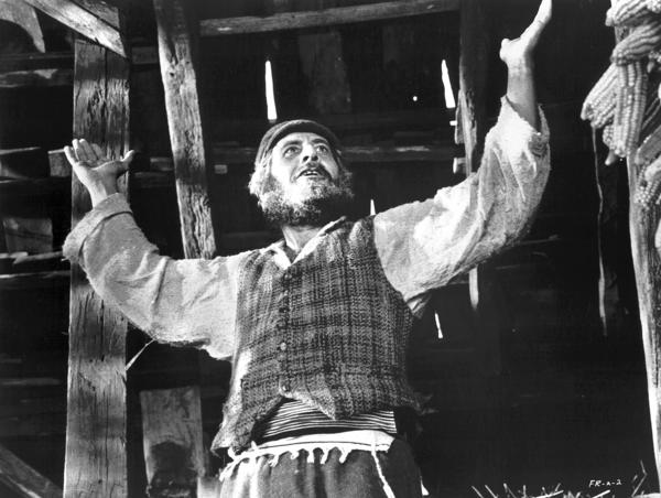 "Topol stars in ""Fiddler on the Roof."""