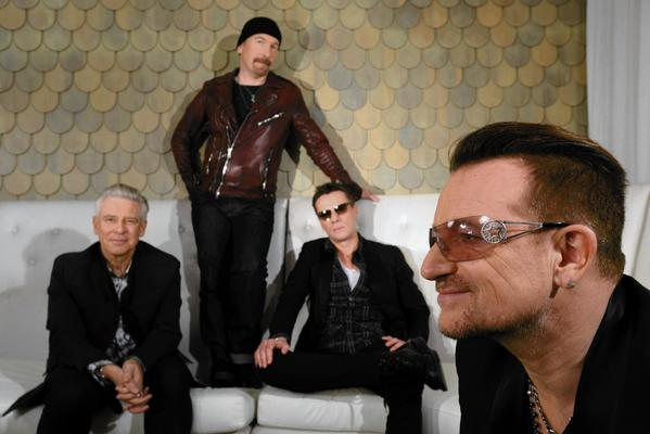 U2's band members are  Adam Clayton, left, the Edge, Larry Mullen Jr. and Bono.