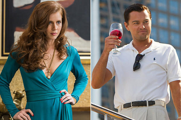 "Amy Adams in ""American Hustle"" and Leonardo DiCaprio in ""The Wolf of Wall Street."""