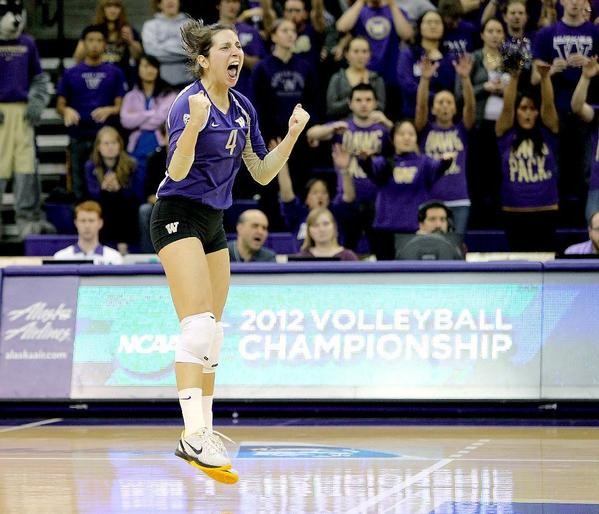 Flintridge Sacred Heart Academy alumna Jenna Orlandini and her University of Washington women's volleyball team advanced to the NCAA Final Four. (Courtesy of Red Box Pictures)
