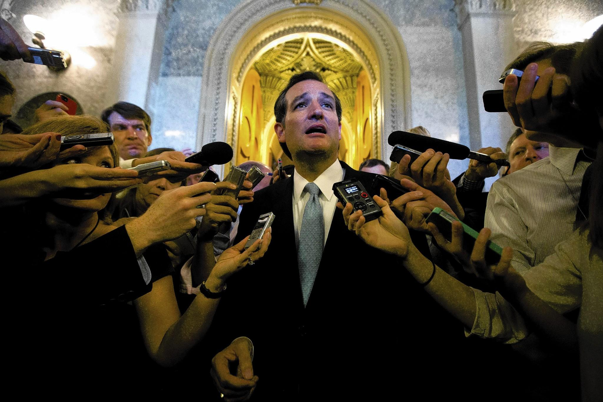 U.S. Sen. Ted Cruz, R-Texas, speaks some more after a 21-hour tirade against Obamacare in September.