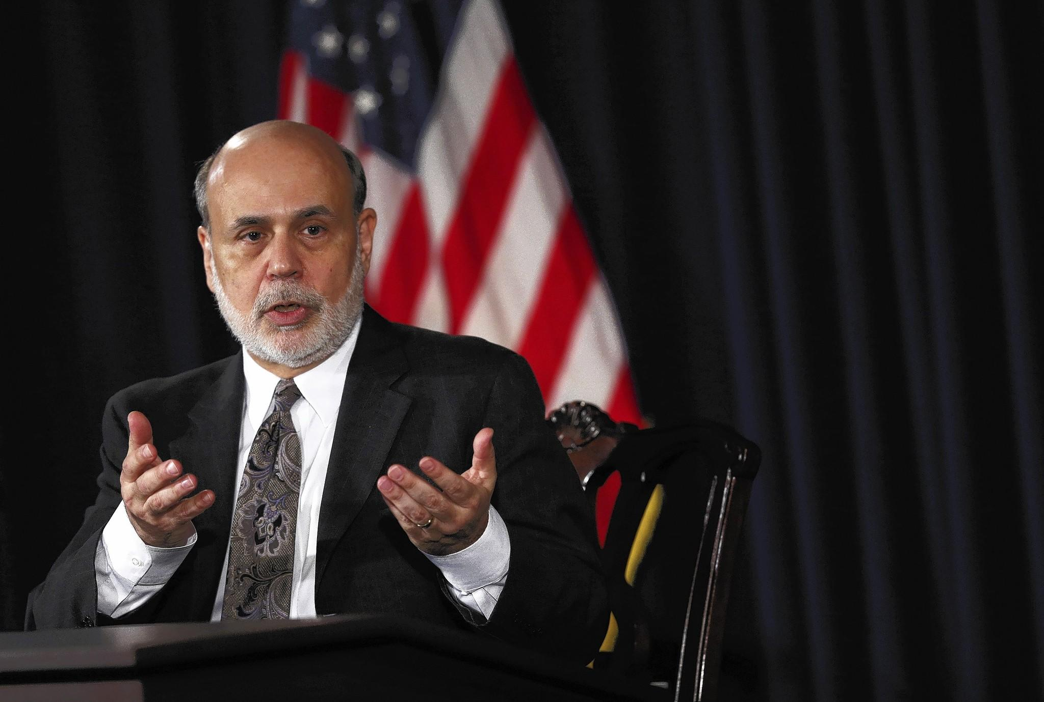 Fed Chairman Ben Bernanke is still worried about unemployment. But he thinks that the aggressive stimulus is working — not as much as he hoped, but slowly and surely.