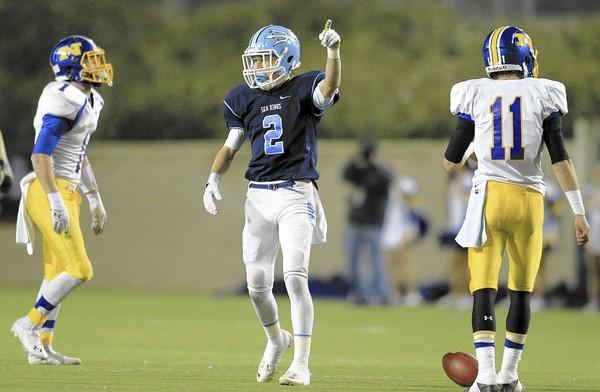 Bo St. Geme (2) and Corona del Mar High have one more game, in the CIF State Football Championship Division III Bowl Game Saturday at noon at the StubHub Center in Carson.
