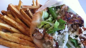 Tasty Souvlaki Chicken Sandwich at Poquoson Diner