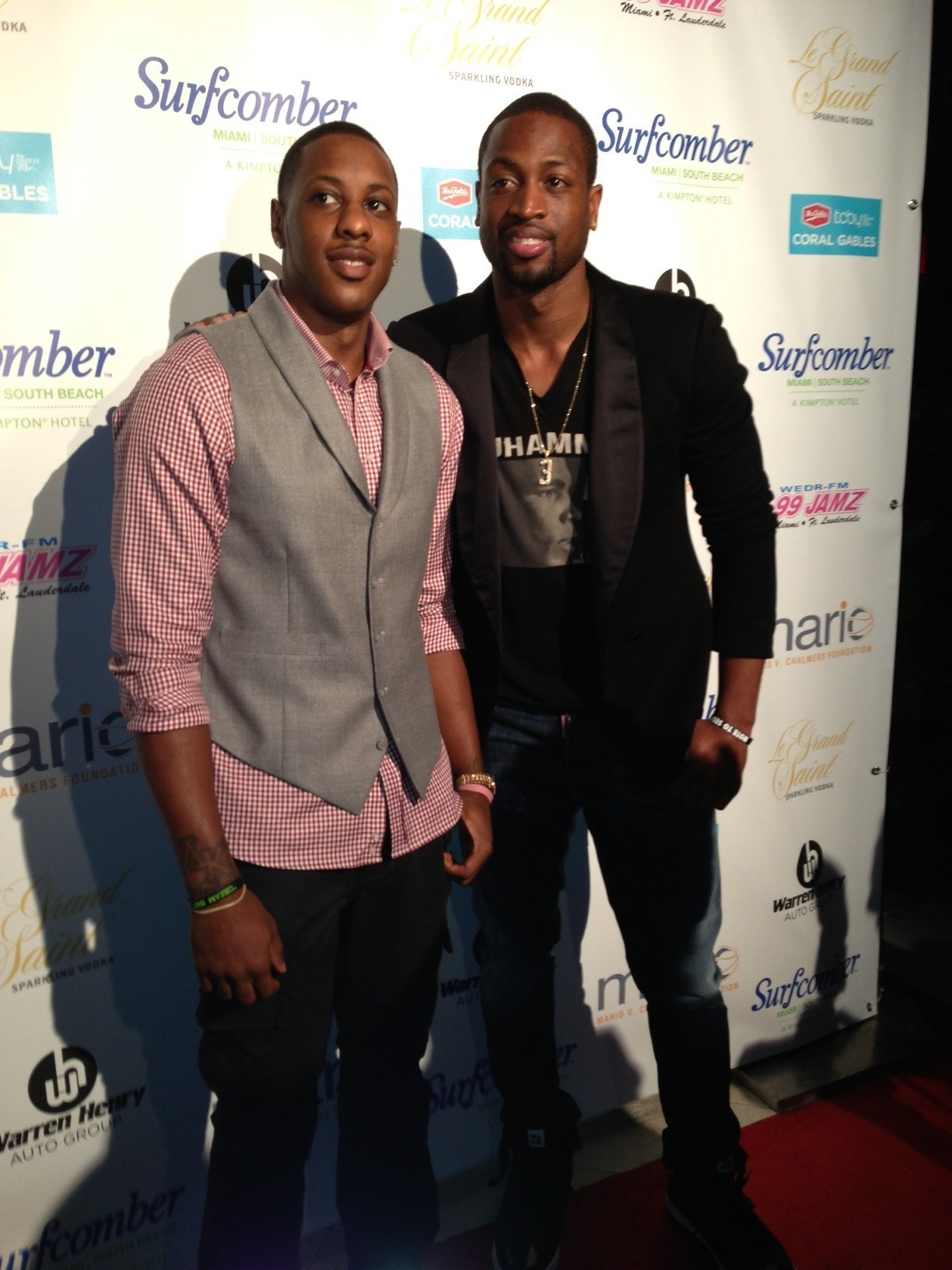 Celeb-spotting around South Florida - Mario Chalmers Foundation fundraiser at the Surfcomber in Miami