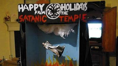 Satan defeated in Florida Capitol -- at least, on the Nativity scene