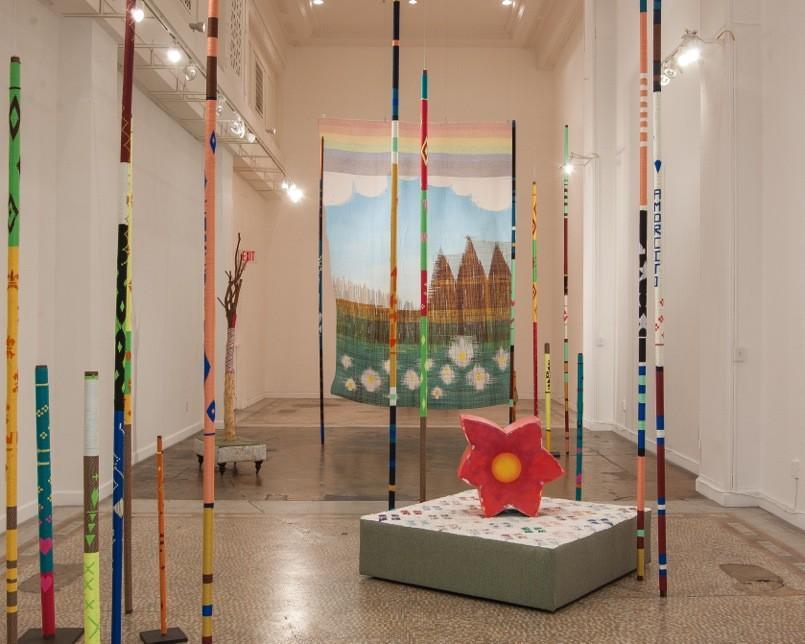 Lorenzo Hurtado Segovia installation at CB1 Gallery.