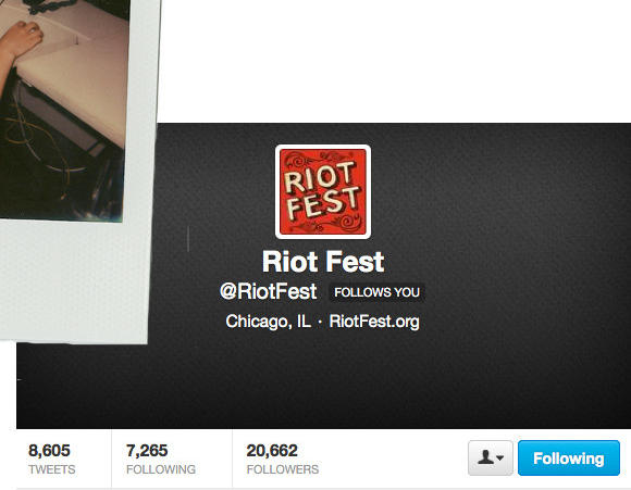 Who is the Riot Fest Twitter Guy?