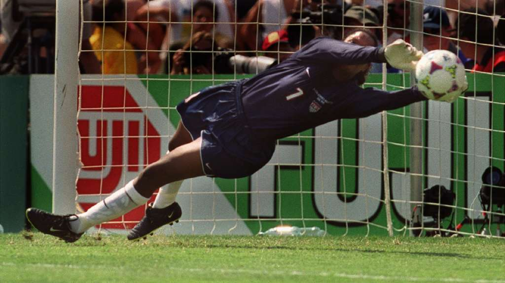 Briana Scurry is the goalie on the all-time U.S. women's soccer team.
