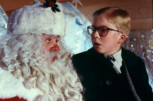 "Peter Billingsley, right, plays Ralphie, whose desire for a BB gun drives the 1983 ""A Christmas Story,"" playing 24 hours straight on TBS, beginning Christmas Eve."