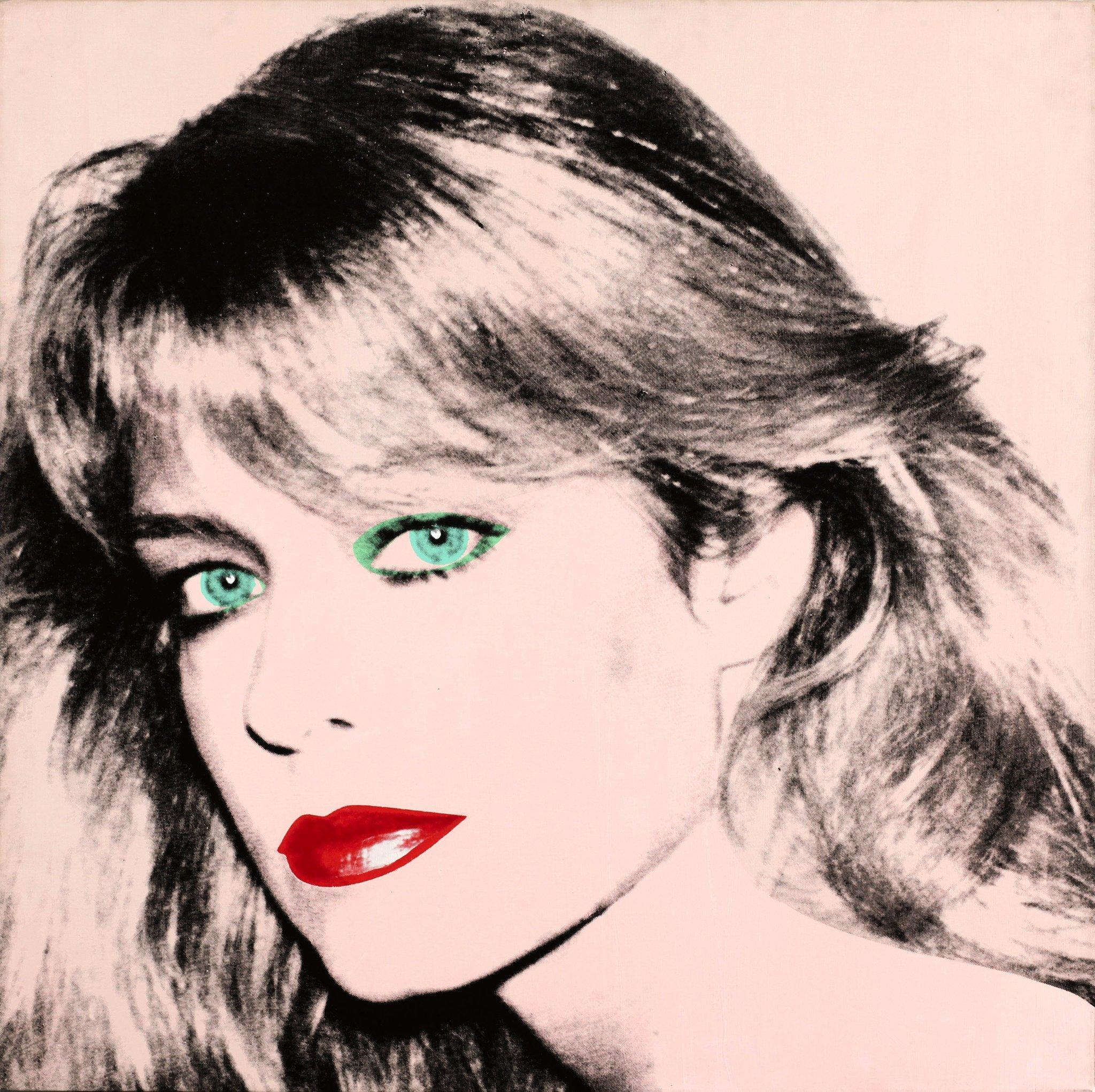 Portrait of Farrah Fawcett by Andy Warhol.