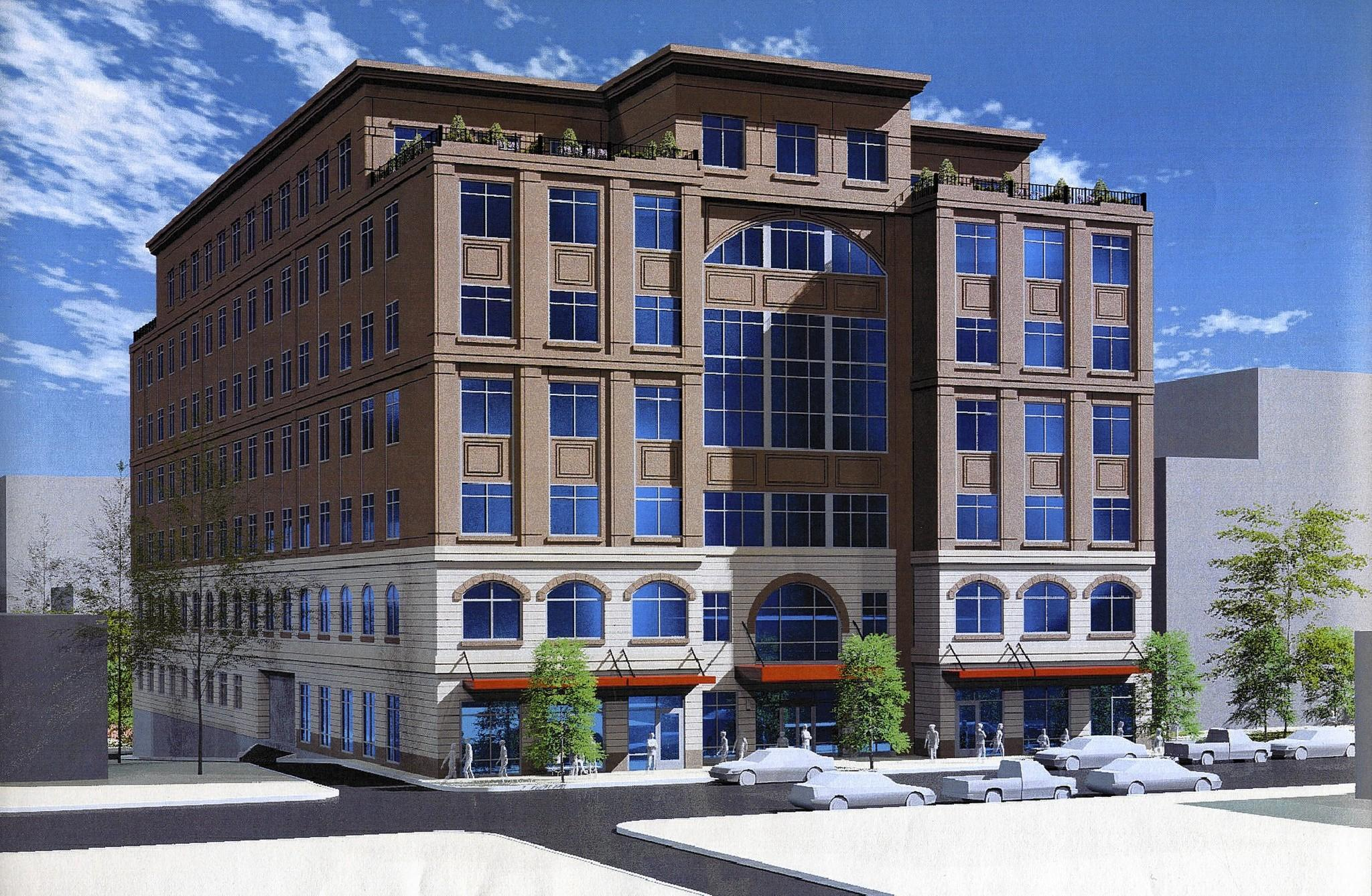 An artist rendering of Three City Center in Allentown.