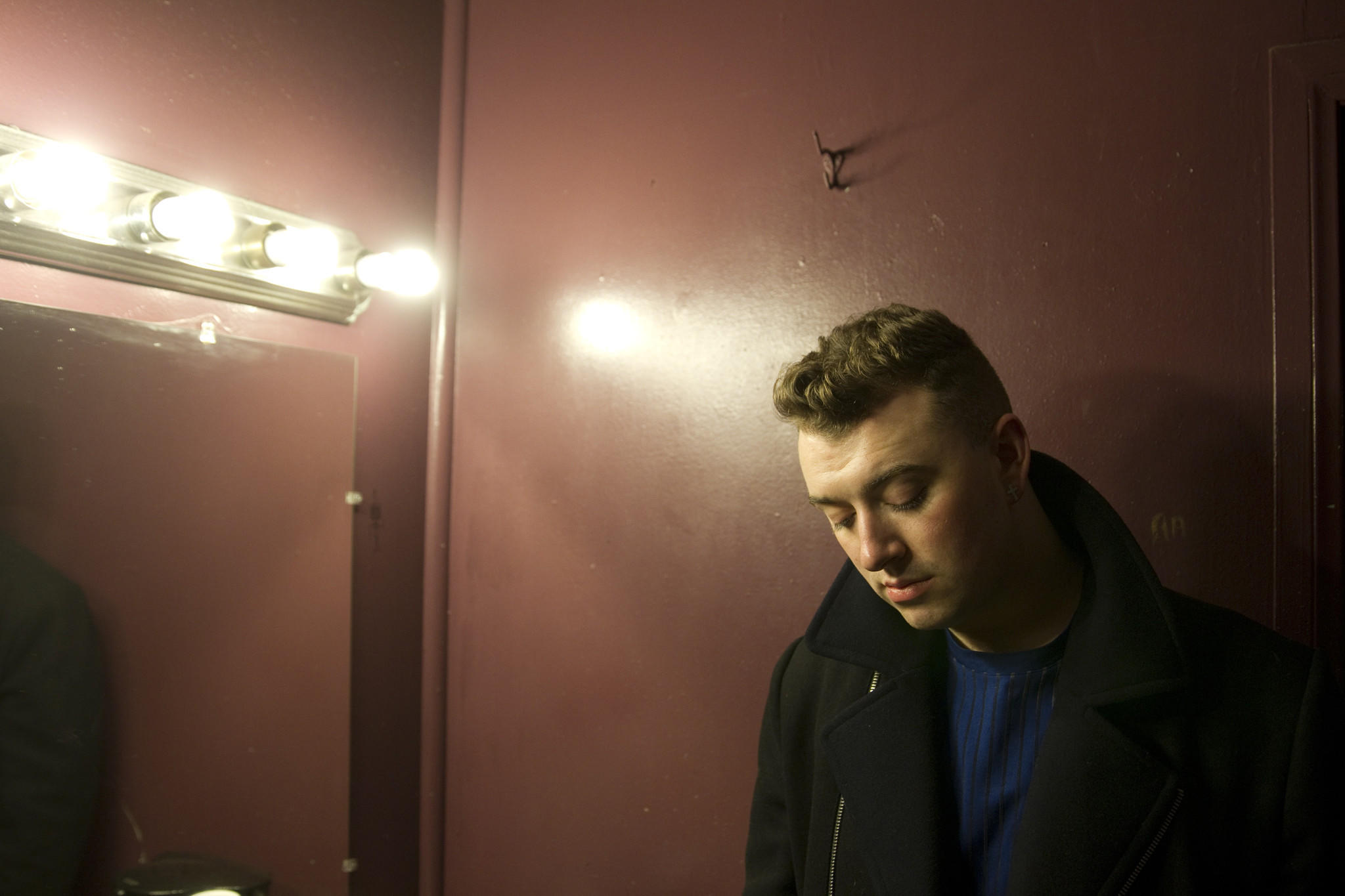 Sam Smith, the breakout British voice behind Disclosure's hit Latch, made his Los Angeles debut with a pair of sold-out shows at the Troubadour in West Hollywood. Photo taken in Smith's dressing room before his show on Tuesday, Dec. 3, 2013.