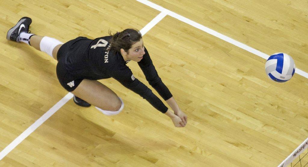 Jenna Orlandini of University of Washington women's volleyball team.(Photo by Stephen Brashear/Red Box Pictures)