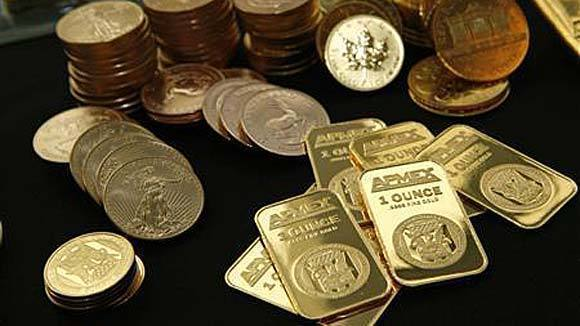 Gold bullion and coins from the American Precious Metals Exchange.