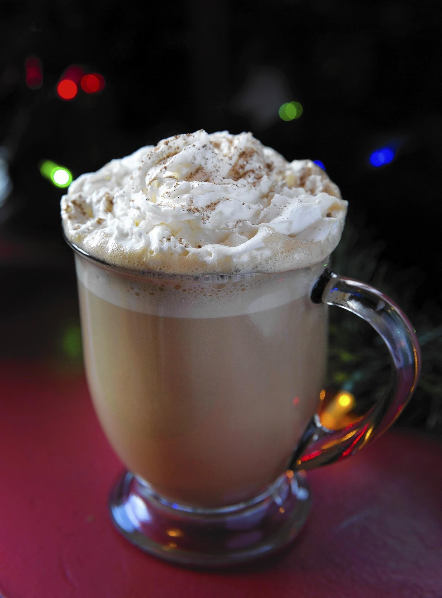 The Scrooge eggnog cocktail at Kristoffer's Cafe & Bakery in Chicago.