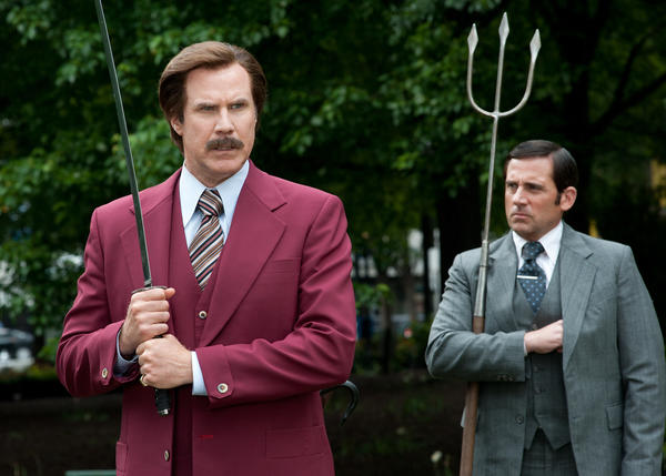 Will Ferrell, left, and Steve Carell in 'Anchorman 2: The Legend Continues.'