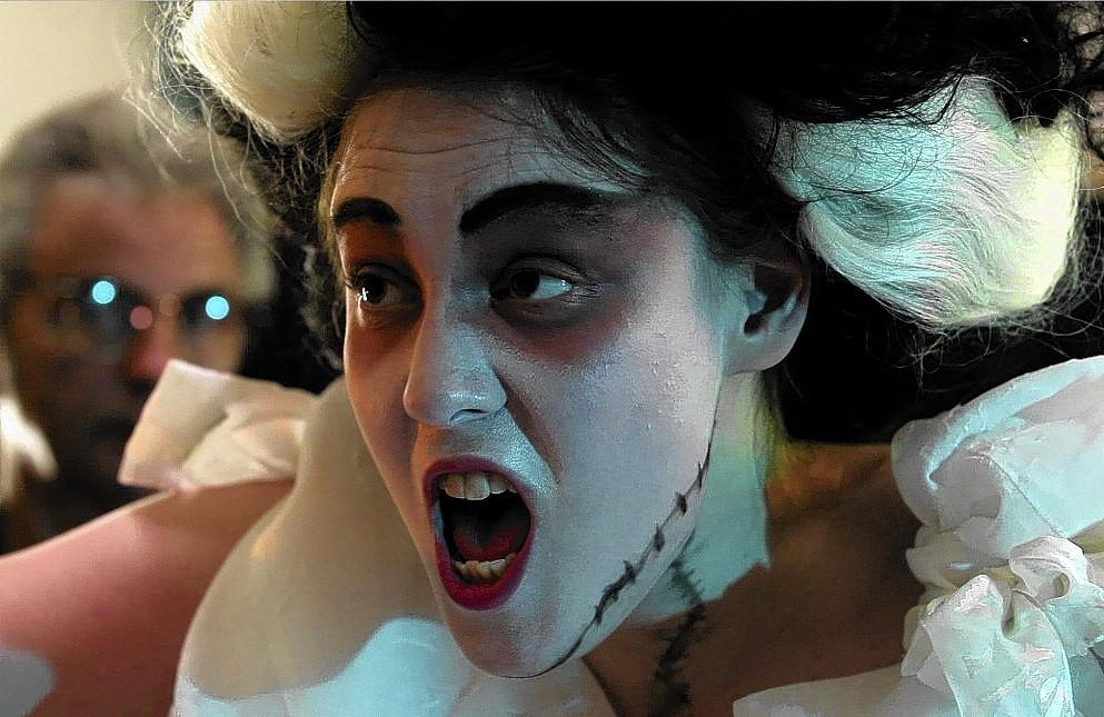 "Rachel Wise appears in SPHERE's production of ""Bride of Frankenstein."""