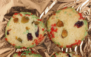 Pistachio-cranberry icebox cookies
