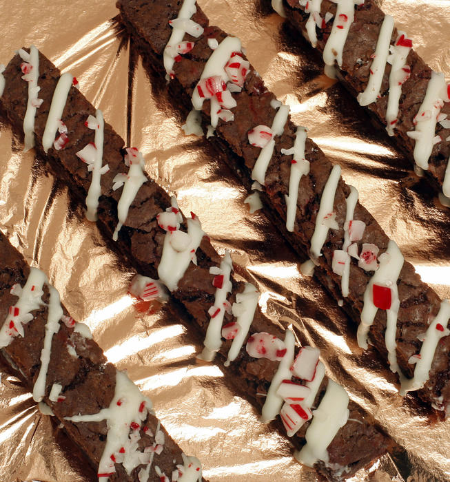 Candy cane chocolate mandel bread