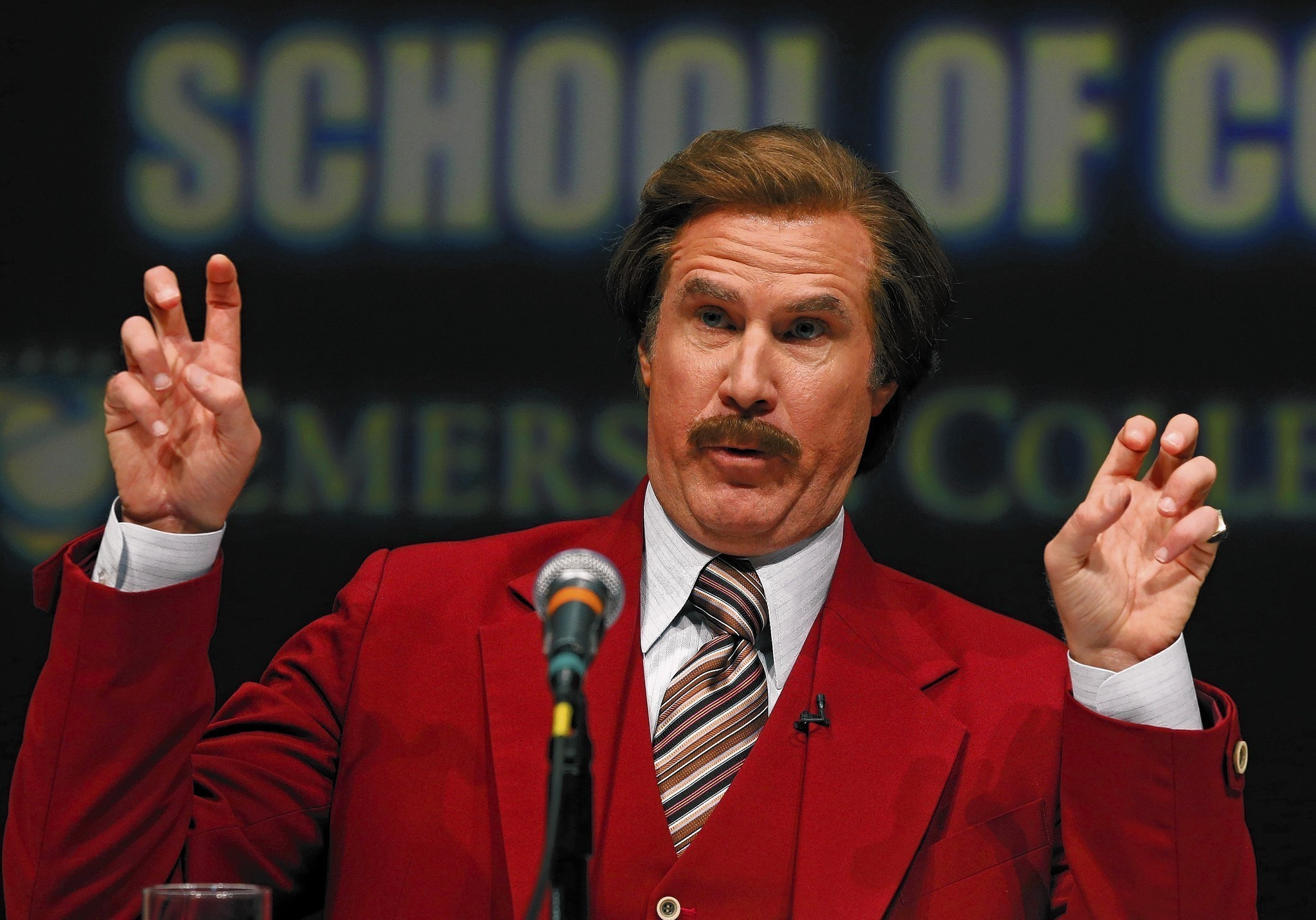 The Ron Burgundy marketing blitz