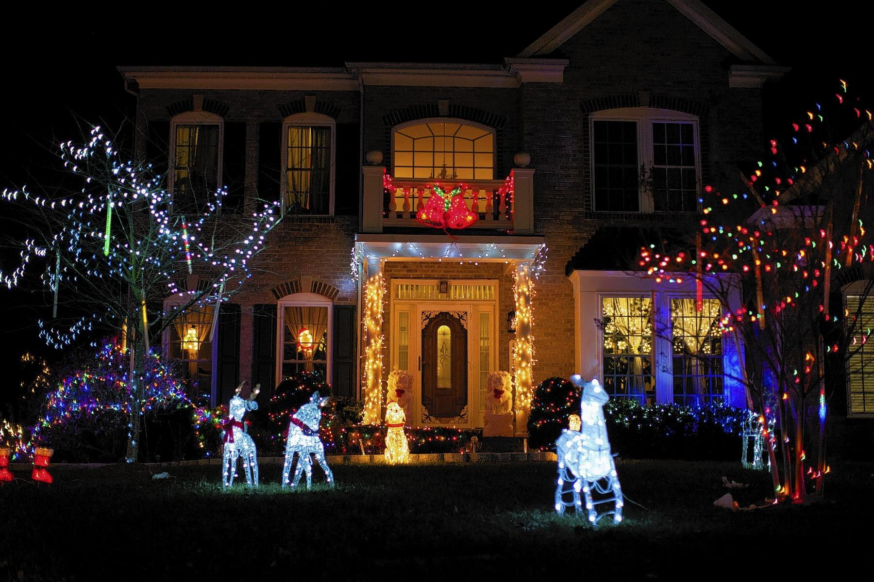Judges awarded first-place in the Holiday Spritit Decorating contest to the Luong's home at 14115 Downdale Drive.