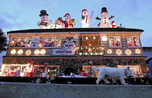 "The ""Beary Christmas"" home was an award winner in the 2013 Ring of Lights."