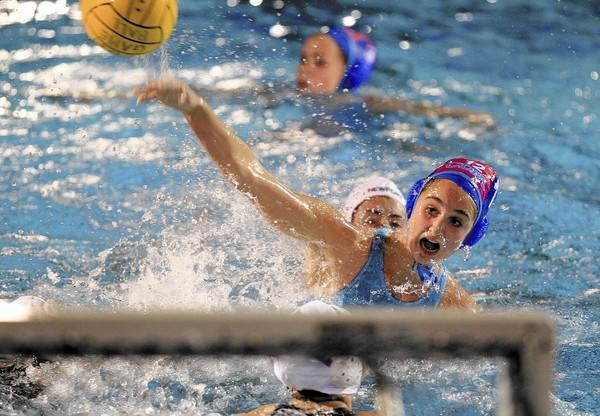 Corona del Mar High's Maddie Musselman shoots against Newport Harbor in the Battle of the Bay match on Friday.