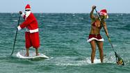 Santa heads to Fort Lauderdale beach