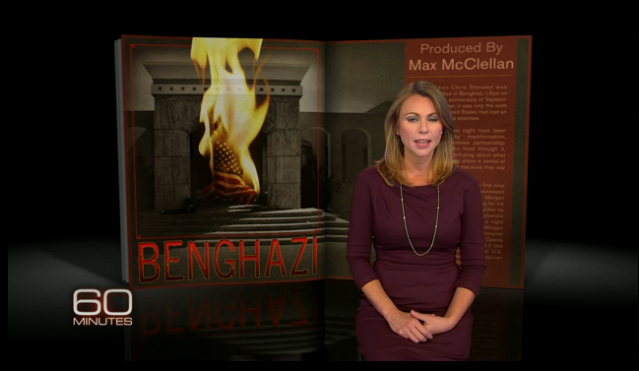 "Lara Logan apologizing to viewers for a report on Benghazi that ""60 Minutes"" had to retract."