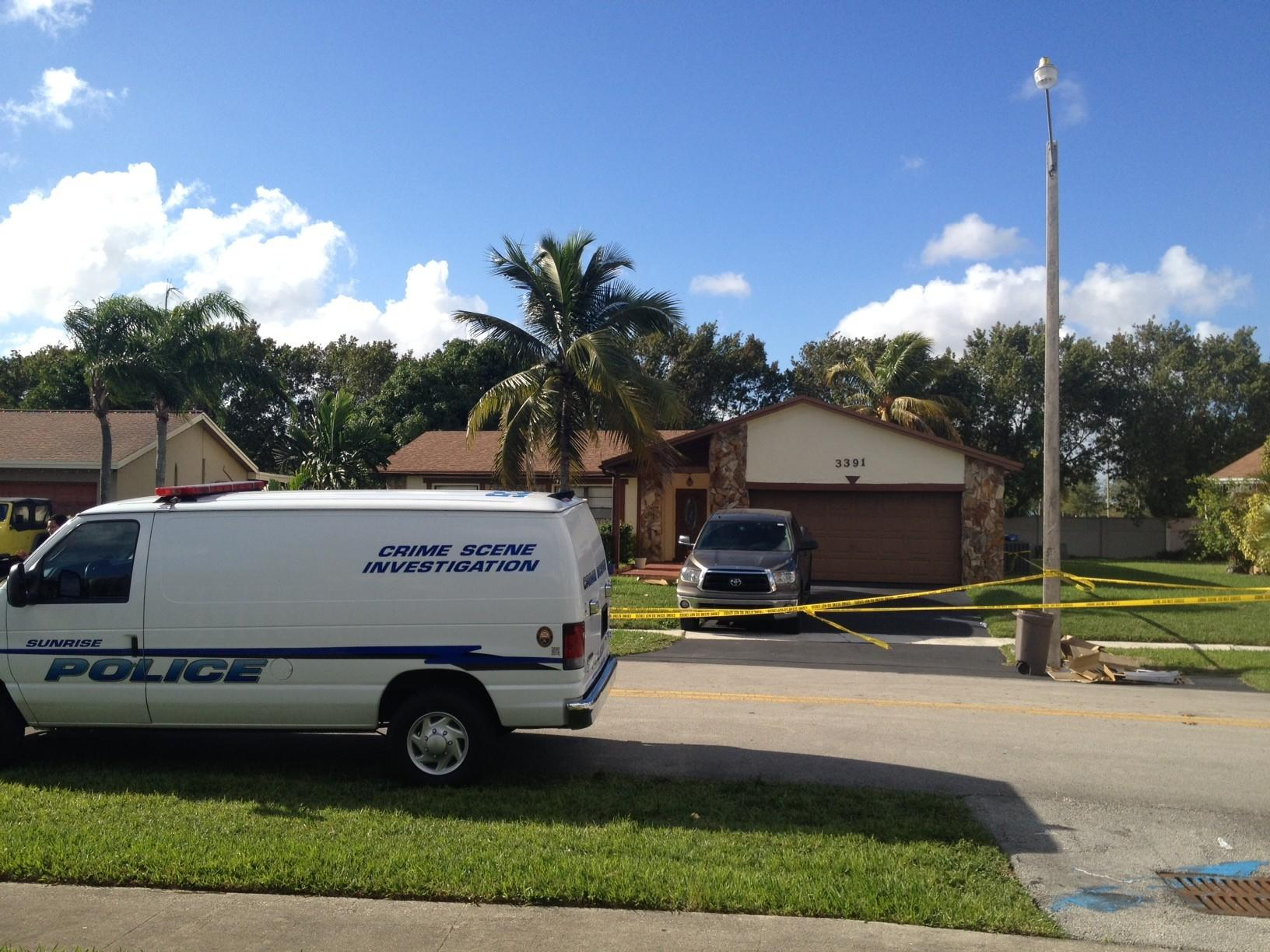 Sunrise police are investigating a homicide at a home on NW 97th Terrace