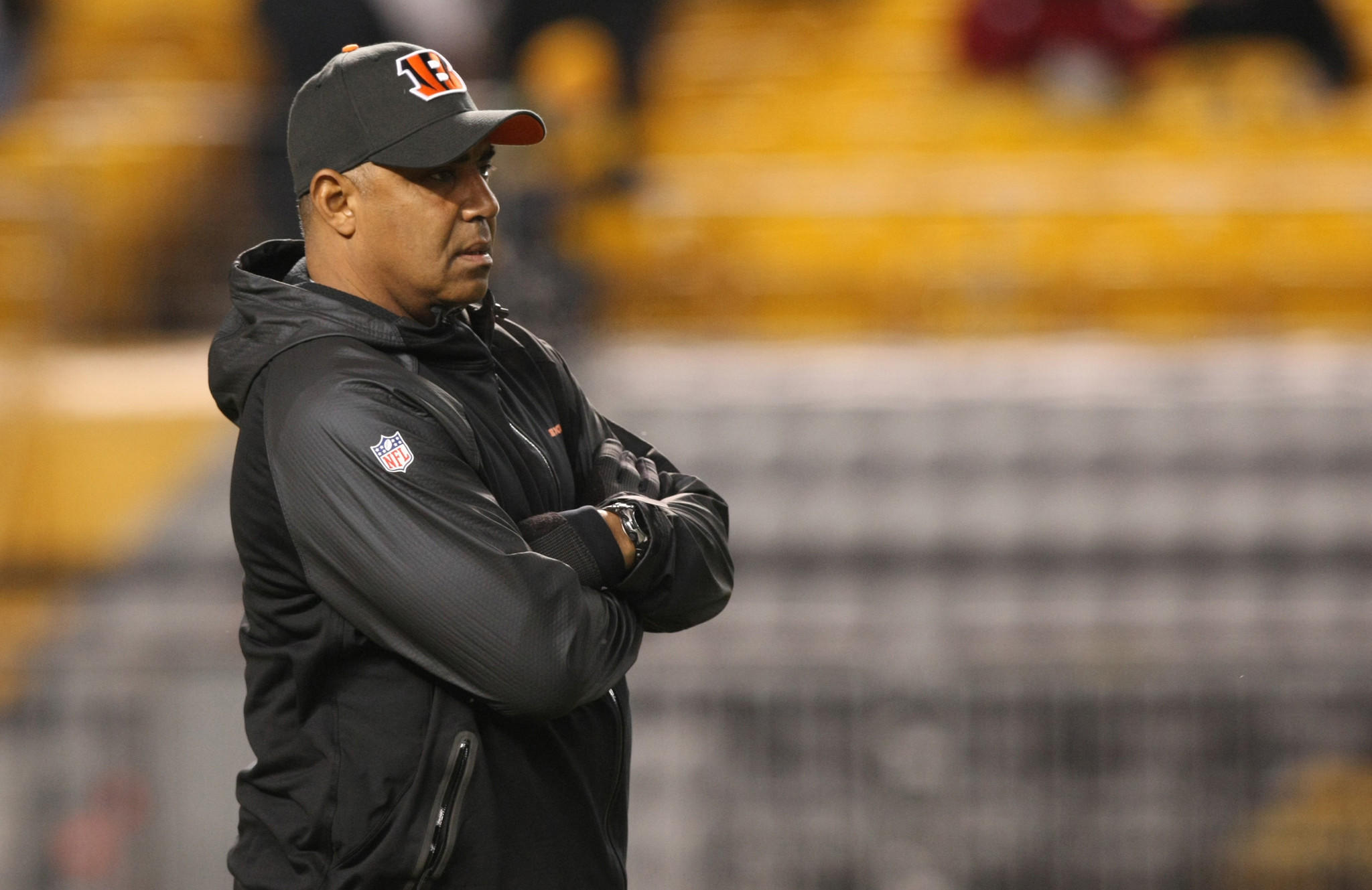 """""""We have a lot on the line,"""" Bengals head coach Marvin Lewis said during a news conference Tuesday."""