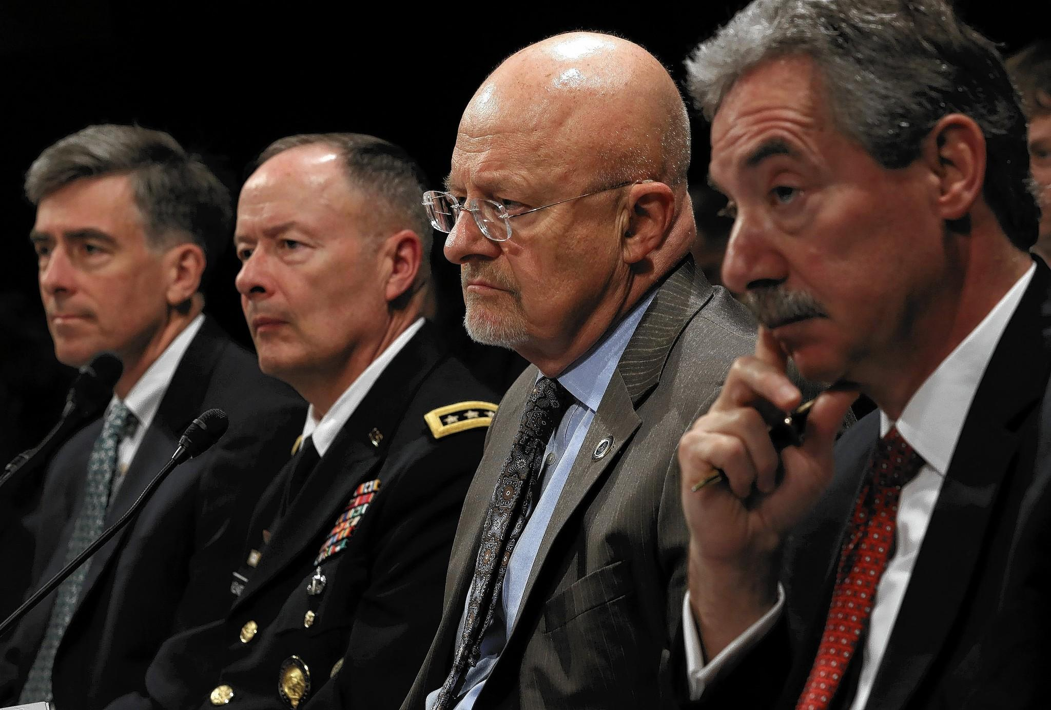 "James R. Clapper, director of national intelligence, second from right, at a House hearing. ""There are many things we do in intelligence that, if revealed, would have the potential for all kinds of blowback,"" he said."