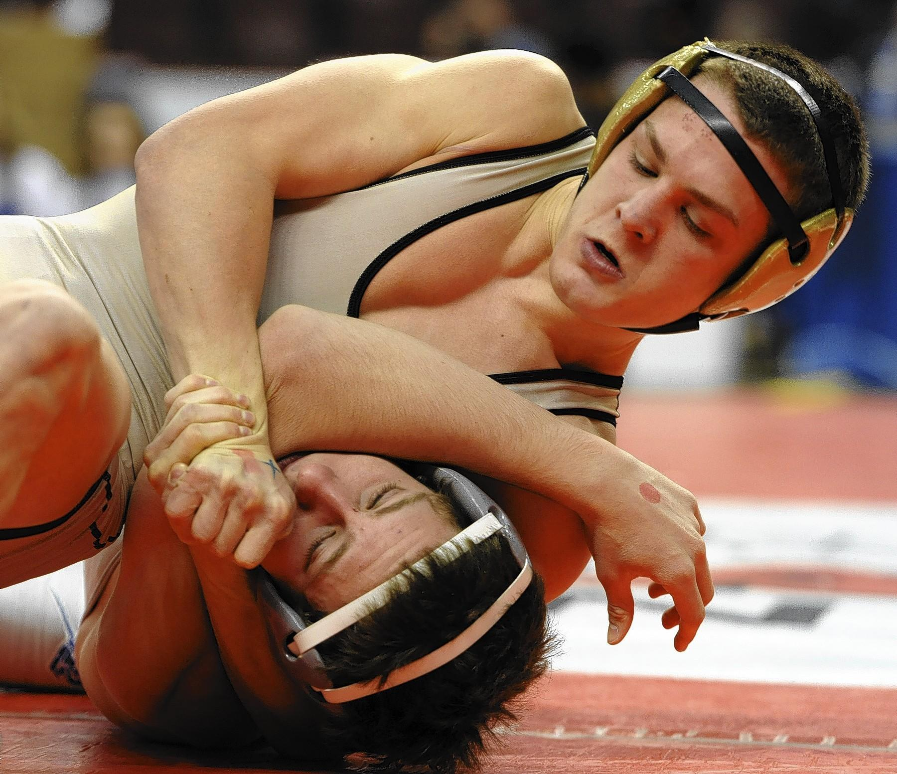 Bethlehem Catholic's Zeke Moisey (top) won his first Beast of the East championship Sunday in Delaware.