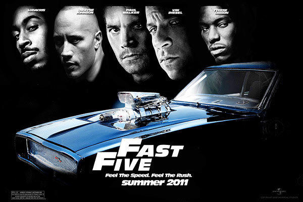 "The poster from ""Fast & Furious Five."""