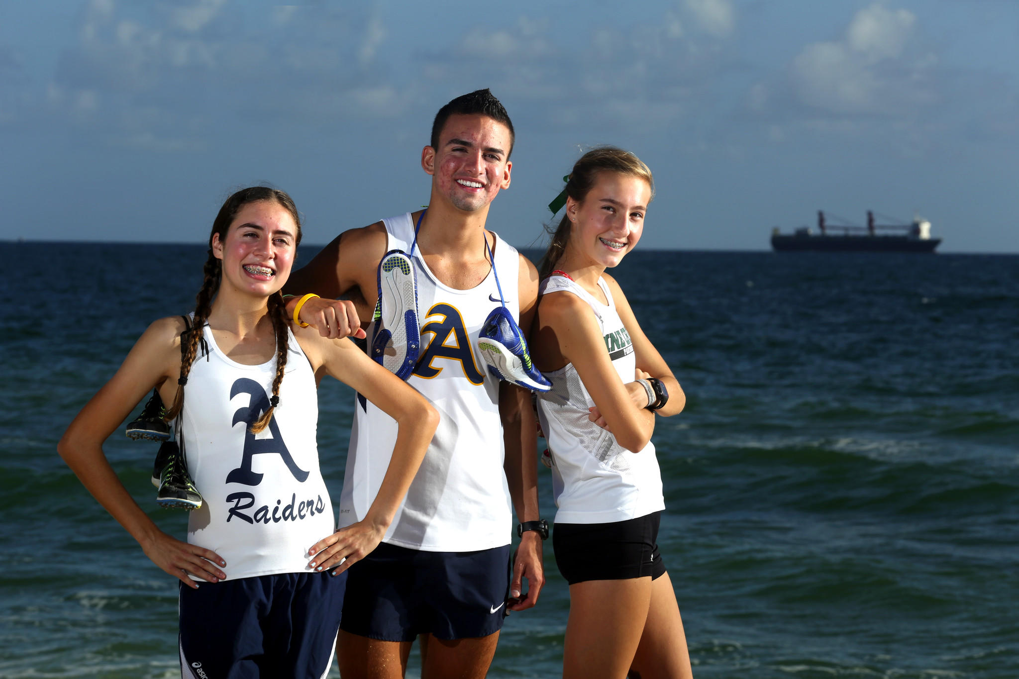 Cross country runners of the year: Alexa Cruz, Manuel Velasquez, Julia Montgomery.