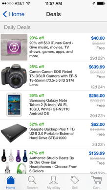 Users can often find a flurry of discounted items using the Ebay mobile app.