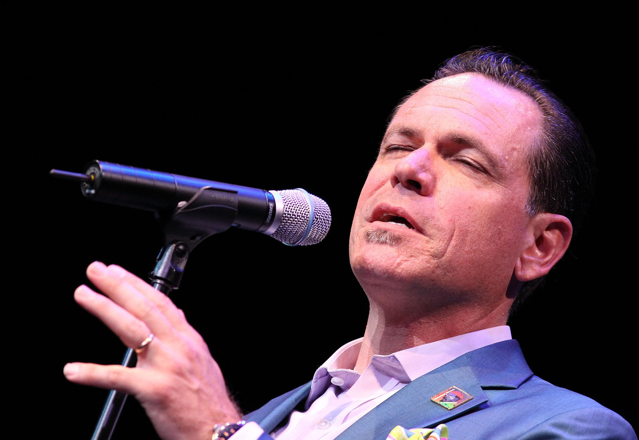 Kurt Elling performs at the 2013 Thelonious Monk International Jazz Saxophone Competition at The John F. Kennedy Center for Performing Artsin Washington, DC.