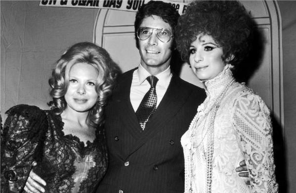Sue Mengers, left, with Barbra Streisand and hairdresser Fred Glaser at the Beverly Hilton Hotel in 1969.