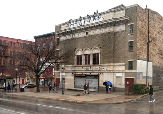 The Parkway Theatre, at 5 West North Avenue, is considered the anchor of the Station North Arts redevelopment. Lt. Gov. Anthony Brown, joined by state officials, preservationists, and community members, announced $10 million in state tax credits to fund 10 restoration projects in Maryland, including the Parkway Theatre on North Ave. The 1915 Parkway will receive $2 million toward its redevelopment as the home of the Maryland Film Festival, in partnership with Maryland Institute College of Art and Johns Hopkins University.